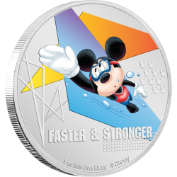 2020 Disney Mickey Mouse Sports SWIMMING - Niue 2 dollars 1oz silver coin