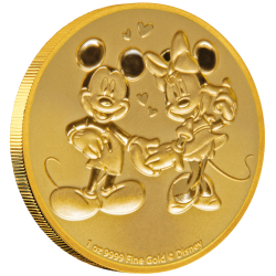2020 Disney Bullion 9) MICKEY & MINNIE - Niue 250 dollars 1 oz gold coin