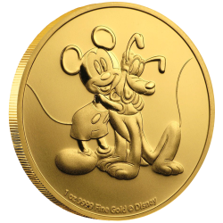 2020 Disney Bullion 10) MICKEY & PLUTO - Niue 250 dollars 1 oz gold coin