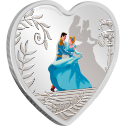 2020 Disney Princess CINDERELLA 70th anniversary - Niue 2 dollars 1oz silver coin