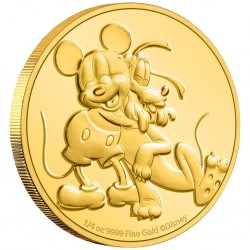 2020 Disney PLUTO Original Buddies - Niue 25 dollars 1/4 oz gold coin