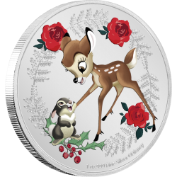 2020 Disney Season's Greetings BAMBI - Niue 2 dollars 1 Oz silver coin