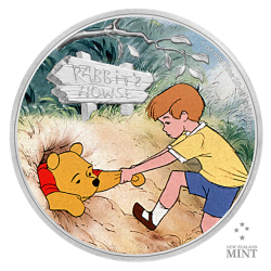 2021 Disney Classics WINNIE THE POOH & CHRISTOPHER ROBIN - Niue 2 dollars 1oz silver coin