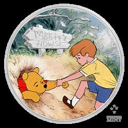2021 Disney Classics WINNIE THE POOH & CHRISTOPHER ROBIN - Niue 2 dollars 1oz silver coin