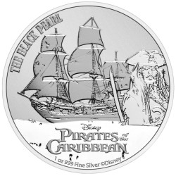 2021 Disney Bullion 14) PIRATES OF THE CARRIBEAN - Niue 2 dollars 1 oz silver coin