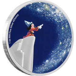 2021 Disney Fantasia THE SORCERER'S APPRENTICE - Niue 2 dollars 1 oz silver coin
