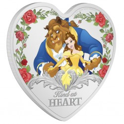 2021 Disney Classic BEAUTY AND THE BEAST 30th anniversary - Niue 2 dollars 1oz silver coin