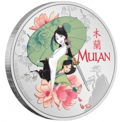 2021 Disney Movies - MULAN - Niue 2 dollars 1oz silver coin