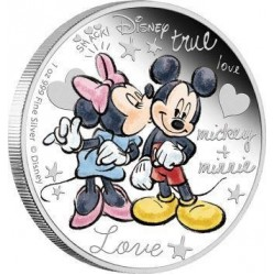 Niue 2 dollars 2015 Disney - Crazy in Love - 1 Oz. zilver