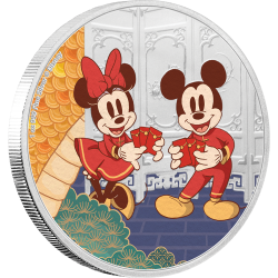 2020 Disney Year of the Mouse 3) LONGEVITY - Niue 2 dollars 1 oz silver coin