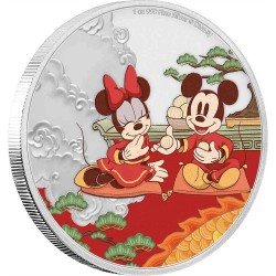 2020 Disney Year of the Mouse 1) GOOD FORTUNE - Niue 2 dollars 1 oz silver coin