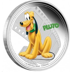 Niue 2 dollar 2014 Disney - Mickey & Friends collection - Pluto - 1 Oz. zilver