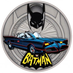 2021 DC Comics - Batman - Batmobile 1966™ - Niue 2 dollars 1 oz silver coin