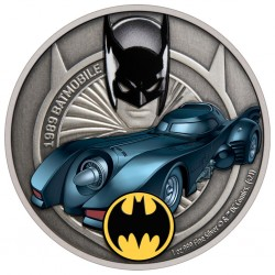 2021 DC Comics - Batman - Batmobile 1989™ - Niue 2 dollars 1 oz silver coin