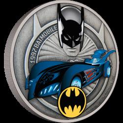 2021 DC Comics - Batman - Batmobile 1997™ - Niue 2 dollars 1 oz silver coin