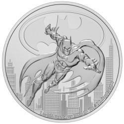2021 DC Comics Bullion 1) BATMAN - Niue 2 dollars 2021 1 oz silver coin