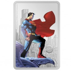 2021 Superman 1) THE MAN OF STEEL™ - Niue 2 dollars 1 oz silver poster coin