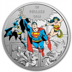 Canada 20 dollars 2016 DC Comics - Originals - The Trinity™ - 1oz silver coin