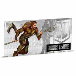 Niue 1 dollar 2018 DC Comics Coin Note - 3) Justice League - Cyborg™ - 5 gr silver foil
