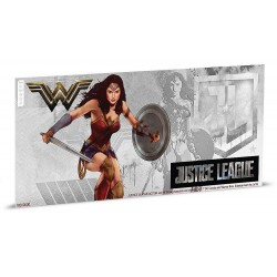 Niue 1 dollar 2018 DC Comics Coin Note - 4) Justice League - Wonder Woman™ - 5 gr silver foil
