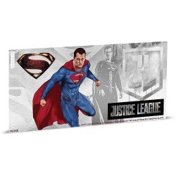 Niue 1 dollar 2018 DC Comics Coin Note - 6) Justice League - Superman™ - 5 gr silver foil