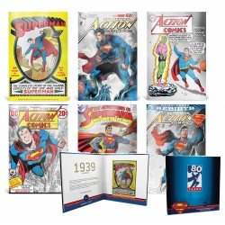 DC Comics - Superman 80th Anniversary Silver Coin Note Collection - 6x Niue 1 dollar 2018 - 5 gr silver foil with album