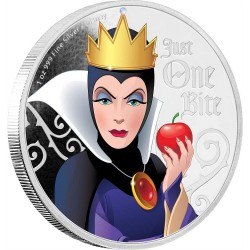 Niue 2 dollars 2018 Disney Villains - 1) Evil Queen™ - 1oz silver coin