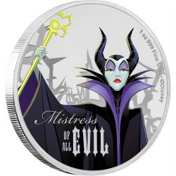 Niue 2 dollars 2018 Disney Villains - 2) Maleficent™ - 1oz silver coin