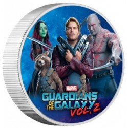 2017 Marvel GUARDIANS OF THE GALAXY 2 - Tuvalu 100 dollars 1 kg silver coin - mintage just 50 pieces!!