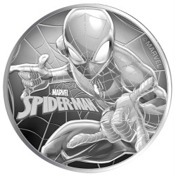 2017 Marvel bullion SPIDER-MAN - Tuvalu 1 dollar 1 oz silver coin