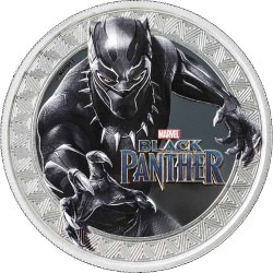 2018 Marvel BLACK PANTHER - Tuvalu 1 dollar 2018 1 oz silver coin