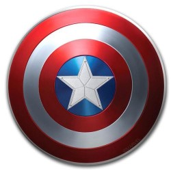 2019 Marvel CAPTAIN AMERICA Shield - Fiji 1 dollar 10g silver coin