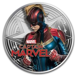 2019 Marvel CAPTAIN MARVEL - Fiji 1 dollar 2019 1 oz silver proof coin