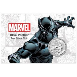 2018 Marvel bullion BLACK PANTHER - Tuvalu 1 dollar 1 oz silver coin in coincard