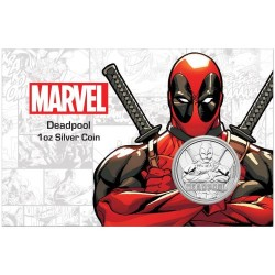 2018 Marvel bullion DEADPOOL - Tuvalu 1 dollar 1 oz silver coin in coincard