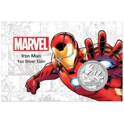 2018 Marvel bullion IRON MAN - Tuvalu 1 dollar 1 oz silver coin in coincard