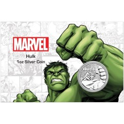 2019 Marvel bullion THE HULK - Tuvalu 1 dollar 1 oz silver coin in coincard