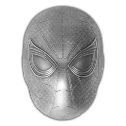 2019 Marvel SPIDERMAN Mask - Fiji 5 dollars 2 oz silver coin
