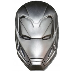 2019 Marvel IRON MAN Mask - Fiji 5 dollars 2 oz silver coin