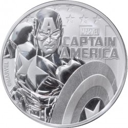 2019 Marvel bullion CAPTAIN AMERICA - Tuvalu 1 dollar 1 oz silver coin