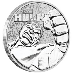 2019 Marvel bullion THE HULK - Tuvalu 1 dollar 1 oz silver coin