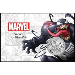 2020 Marvel bullion VENOM - Tuvalu 1 dollar 1 oz silver coin in coincard