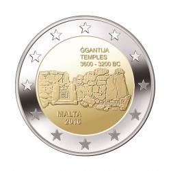 Malta 2 euro 2016 'Ggantija Tempels' UNC zonder muntteken