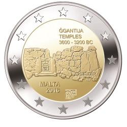 Malta 2 euro 2016 'Ggantija Tempels' UNC met Frans muntteken