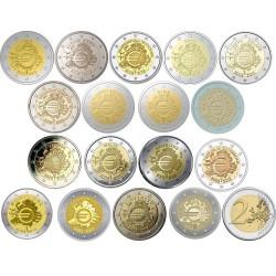 Complete serie 2 euro 2012 'Tien jaar Euro' UNC