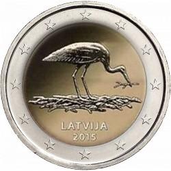 Letland 2 euro 2015 'Zwarte ooievaar' UNC