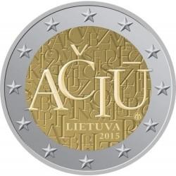 Litouwen 2 euro 2015 'De taal van Litouwen' UNC