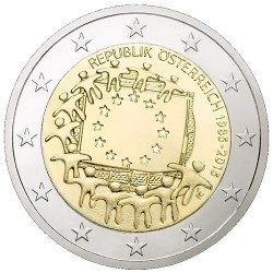 Oostenrijk 2 euro 2015 'Europese Vlag' UNC