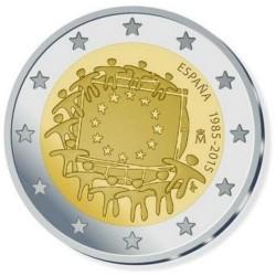 Spanje 2 euro 2015 'Europese Vlag' UNC