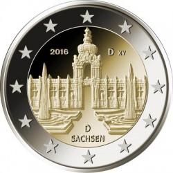 Duitsland 2 euro 2016 'Saksen - Zwinger van Dresden' ADFGJ UNC
